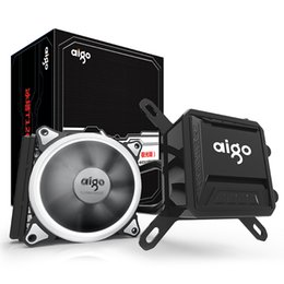 Light radiators online shopping - Aigo Liquid CPU Cooler All In One Water Cooling mm PWM Fan LED Light desktop computer case radiator LGA x AM2 AM3 AM4