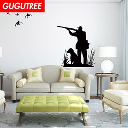 hunting decor NZ - Decorate Home go hunting cartoon art wall sticker decoration Decals mural painting Removable Decor Wallpaper G-1831