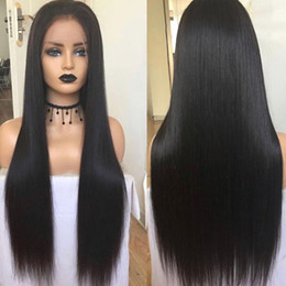 Silk Base Full Lace Wig Free UK - Free Shipping 150% Density Silk Base Wig Pre Plucked With Baby Hair Straight Brazilian Remy Hair Silk Top Lace Front Human Hair Wigs