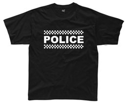 funny printed dresses NZ - POLICE Mens T-Shirt S-3XL Black Funny Printed Fancy Dress Costume Joke Top Funny free shipping Unisex Casual Tshirt top