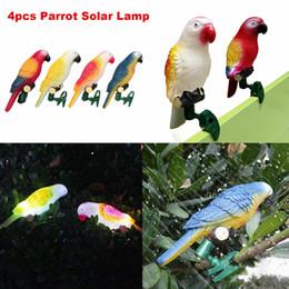Solar Lighted Yard Decor Australia - 4Pcs lot Waterproof Bird Parrot Solar Lights Lawn Lamp Yard Landscape Garden Decor