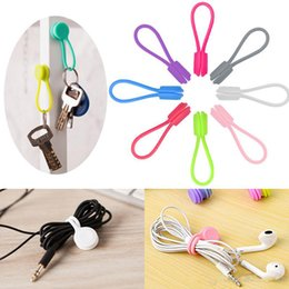 Silicone Cable Wire Australia - Earphone Winders Cute Multifunction Silicone Magnet Earphone Cord Winder Wrap Cable Holder Cable Ties Clip Wire Organizer