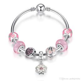 Fashion Bracelets Flower Design Australia - Fresh design love bracelet Fashion DIY jewelry flower bracelet personality heart crystal bracelet