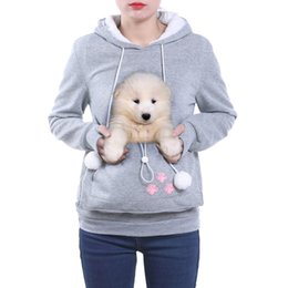 Wholesale High Quality Cat Lovers Hoodies Ears Cuddle Pouch Dog Pet Hoodies For Casual Kangaroo Pullovers Sweatshirt Drop Shipping XL