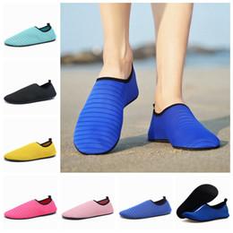Großhandel Strand Sandalen Schuhe ultradünne atmungsaktive Männer und Frauen Fitness Laufschuhe Haut weiche Socken im Freien rutschfeste Strand Watschuhe LJJZ376