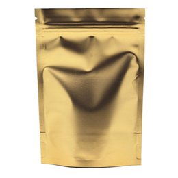 "$enCountryForm.capitalKeyWord NZ - DHL 200Pcs Lot Golden 22*30cm Stand Up Aluminum Foil Packing Pouch For Nuts Coffee Storage Doypack Ziplock 9.17""x12.5"" Pack Bag"