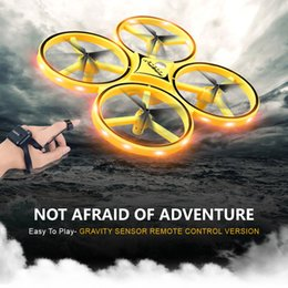 toy helicopter induction Australia - mini UFO drone Gesture Aircraft Induction Drones Smart Watch Remote Sensing Rc Helicopter Super resistance rc Quadcopter rc toy
