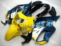 $enCountryForm.capitalKeyWord Australia - New Injection mold ABS Fairings Set Fit for HONDA CBR600F4 99-00 CBR 600 F4 FS CBR600FS CBR 600F4 F4 99 00 1999 2000 Custom yellow blue