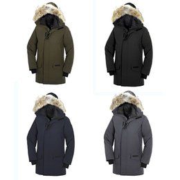 Warmest Goose Down Parka Australia - Luxury down Canada famous Outdoor sports brand Goose down 90% man thick Outerwear t Parka Winter Warm Thick Down Coats with Hooded Warm