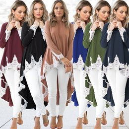 Woman dress clothes lace online shopping - Solid Color Cotton Clothing Soft Long Sleeve Autumn Spring Skirt Women Fashion White Lace Sexy Irregularity Hemline Dress my hh