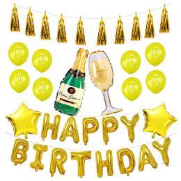 $enCountryForm.capitalKeyWord Australia - 16 Inch Full Set Happy Birthday Balloons cartoon Alphabet Letters Balloons Birthday Party Decoration Supplies 20 sets   Pack