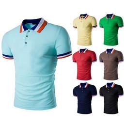 $enCountryForm.capitalKeyWord Australia - Men's Modern Fit Short Sleeve Polo Shirt Summer Heat Sale Men Casual Slim Fit Polo T-Shirts Basic Designed Striped lapels