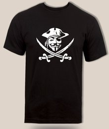 $enCountryForm.capitalKeyWord NZ - Anonymous t-shirt pirate of the Caribbean spoof Funny Novelty parody Fawkes tee Jersey Print T-shirt Classic Quality High T-shirt