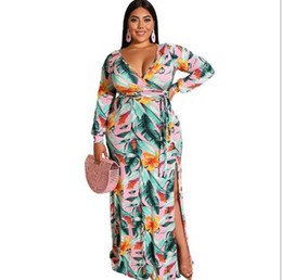 Wholesale casual mermaid style dress for sale – plus size European Style Hot Sale Latest Dress Designs Fashion Casual Pringt Long Sleeve Beach Girl Dress Women Dress D013
