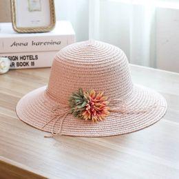 5351236aa7f Designer Straw Beach Hats With Bow Ladies Wide Brimmed Vietnam Floppy  Foldable Sun Hat Women Caps Elegant UA Protection Summer Sun Visors
