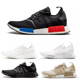 bf5b84b572c4c cheap sale NMD R1 Japan Triple Black white red men women running shoes  runner sports shoe trainer sneaker size 5.5-11