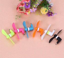 micro fans UK - Wholesale Micro Portable USB Mini Fan Phone Accessory For Iphone Android Smartphone Random Color Free Shipping