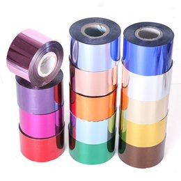 metallic metals NZ - 1 Roll Laser Metallic Nail Foil Sticker For Nail Polish Design Metal Color Transfer Sticker Nail Sliders Manicure Decor SA996-2