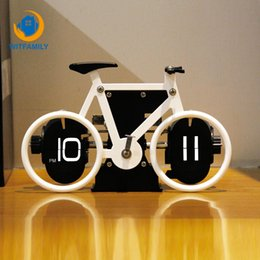 europe electronics 2020 - European Metal Bicycle Shape Modern Home Living Room Decoration Single-sided Turning Page Digital Display Electronic Clo