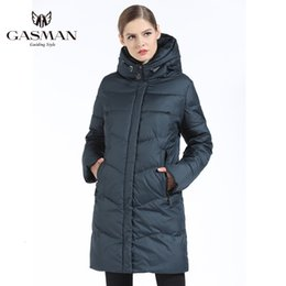warm parkas for women NZ - GASMAN 2019 Women Winter Jacket Down Long Female Winter Thick Coat For Women Hooded Down Parka Warm Clothes Plus Size 7XL 6XL DT191023