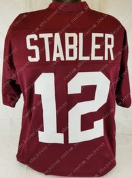 $enCountryForm.capitalKeyWord Canada - Cheap custom Ken Stabler Crimson College Style Football Jersey Customized Any name number Stitched Jersey XS-5XL