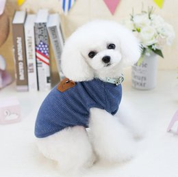 Cheap Female Clothing Australia - Pet T Shirts Summer Solid Dog Clothes Fashion Top Shirts Vest Cotton Clothes Dog Puppy Small Dog Clothes Cheap Pet Apparel