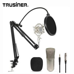 $enCountryForm.capitalKeyWord NZ - Wholesale BM700 Studio Recording Condenser Mic Microphone with Suspension Arm Stand Shock Mount and Pop Filter for PC Laptop Computer k2691