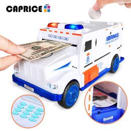 Car Safe Boxes Australia - Piggy Bank Digital Kids Toy Money Box Saving Deposit Boxes Electronic Tirelire Enfant Children Cash Car Coin Safe Truck C00127 C18122201