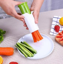 Safety Gadgets Australia - Safety and environmental protection Fruit Carving Tools Salad Cutter Kitchen Cucumber Divider Carrot Strawberry Slicer Splitter Gadget Cutti