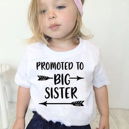 4t tshirt Australia - Promoted To Big Sister Kid's T Shirt Boys Girls Summer Short Sleeve Funny Graphic Printed Kawaii Top Tee Shirt Children Tshirt