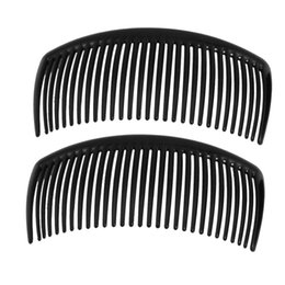 $enCountryForm.capitalKeyWord UK - 2Pcs 10.5X5Cm Multi-Purpose Hair Combs With Teeth Vintage Side Clips Daily Use Girl Hair Accessories-Black Colorful