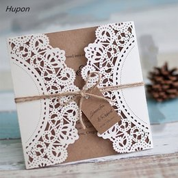 vintage laser cut wedding invitations Australia - 50Pcs Laser Cut Wedding Invitations Cards +Tags Vintage Wedding Bridal Shower Gift Greeting Card Kits Event Party Supplies Decor