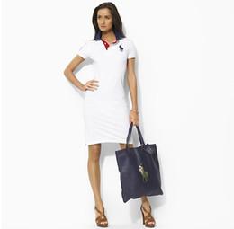 Chiffon Polo UK - Hot 2019 Free Shipping Hot 100% Cotton women brand polo Dresses Fashion Women's Casual Dresses for women polos Five colors S-XL