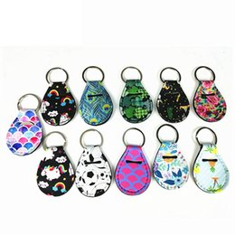 Wholesale Fashion Flower Pattern Keychains Coin Holder Lip Palm Holder Floral Print Metal Key Ring Party Gift TTA890