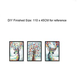 $enCountryForm.capitalKeyWord Australia - 3D Simulation Picture Frame Wall Stickers Colorful Deer Tree Wall Decals DIY Home Decoration Self-adhesive Wallpaper Poster Art