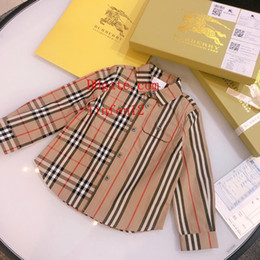 $enCountryForm.capitalKeyWord Australia - 2019 brand kids shirt kids clothes girls unisexc lapel cotton plaid long-sleeved shirt children tops high quality baby girl clothes AB-2