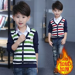 $enCountryForm.capitalKeyWord Australia - Autumn Winter Striped Boy T Shirt Pullover Boys T-Shirts Warm Kids Clothes Casual Thicken Children Clothing Blusas Baby Tops Tee