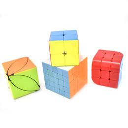 puzzle teasers Australia - Speed Cube Set of 4, 2x2x2 3x3x3 Trihedron Ivy Leaf 5x5x5 Cube Stickerless Magic Cube Puzzle Brain Teaser Toy Gift Box