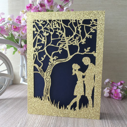 $enCountryForm.capitalKeyWord NZ - 30PCS  lot Lovers Romantic Wedding Invitation Cards Bride And Groom Ceremony Anniversary Blessing Gift Cards Supplies