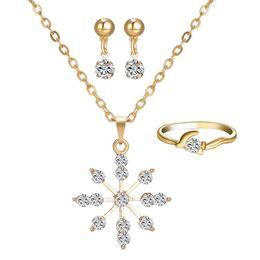 $enCountryForm.capitalKeyWord Australia - Fashion Rhinestone Sun sunshine Pendant Necklaces Ring Stud Earrings Bridal engagement jewelry Set gemstone crystal christmas gift