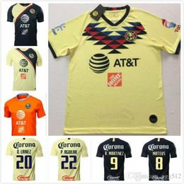 84ef54e1c68 Top 2019 LIGA MX Club America soccer Jerseys home away Orange 19 20  O.PERALTA C.DOMINGUEZ MATHEUS mexico Soccer Jersey football shirts