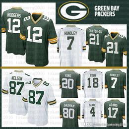 Chinese  12 Aaron Rodgers 17 Davante Adams Green Bays Packers Jersey 21 Clinton-Dix Hundley 87 Jordy Nelson 18 Randall Cobb 20 King 80 Graham 4 Favre manufacturers