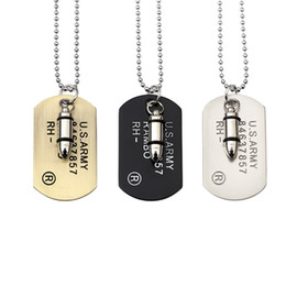 $enCountryForm.capitalKeyWord NZ - Fashion Man Military Card Stainless Steel Dog Tags Pendant Necklace for Necklaces Vintage Antique Filling Pieces Personality 70cm Long Beads