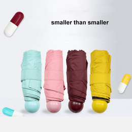 $enCountryForm.capitalKeyWord Australia - Mini Capsule Umbrella Anti-UV Protection Umbrellas outdoor umbrella rstWindproof Folding Umbrellas Rain Pocket Umbrella for Women&Children