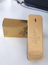 venda por atacado 2019 Novo ouro 1 milhão de homens perfume 100ml com longo tempo bom cheiro boa qualidade de alta fragrância capacitidade parfum