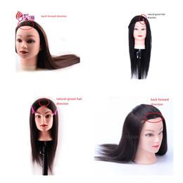 $enCountryForm.capitalKeyWord NZ - 16inch Mannequin Head With Human Hair Training Hairdressing Heads Female Training Dolls Natural-grown Hair Direction Back Forward Direction