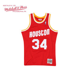 $enCountryForm.capitalKeyWord Australia - Mitchell & Ness Retro Rockets 34 Hakeem Olajuwon 1993-94 Authentic Basketball Jersey Customized name Number Embroidered name & year id tag
