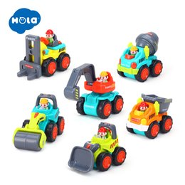 Toy consTrucTion car online shopping - HOLA C Baby Toys Construction Vehicle Cars Forklift Bulldozer Road Roller Excavator Dump Truck Tractor Toys for