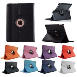 Ipad rotatIng cases online shopping - 360 Degree Rotating Lichee PU Leather Case Stand Cover for New iPad Air Air2 Pro Mini Samsung Tab TabS TabA