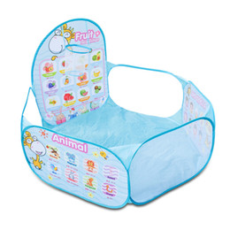 ball carton Australia - Portable Kids Playpen Folding Newborn Fence Baby Pool Children's Playpen Carton Game Tent Infant Ball Pool Baby Playpens Hurdle